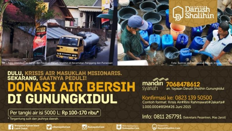 Banner Donasi Air Bersih di Gunungkidul #Besar