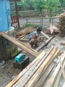 Persiapan kayu