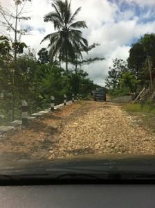 Jalan masuk ke Dusun Melikan yang mulai rusak
