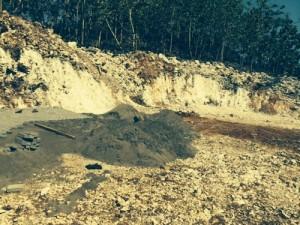 Tanah setelah dikeruk