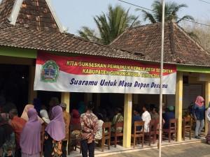 Keadaan saat pemilihan Kepala Desa di Balai Padukuhan Warak