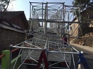 Stick tower yang akan dipasang setinggi 40 meter.