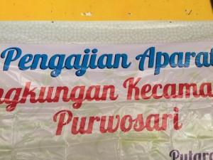 Pengajian Aparat Lingkungan Kecamatan Purwosari.